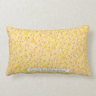 Happy Easter. Can you find chicky hiding Throw Pillows