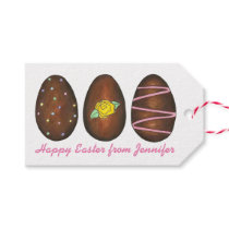 Happy Easter Candy Chocolate Buttercream Eggs Gift Tags