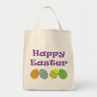 Happy Easter Canvas Bags