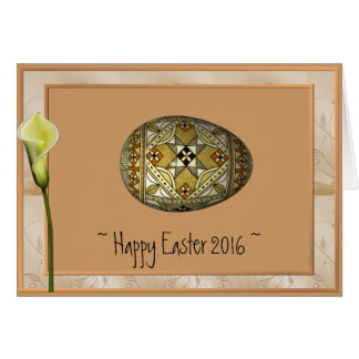 Happy Easter Card 2016 Russian Painted Egg