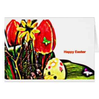 Happy Easter Card decay