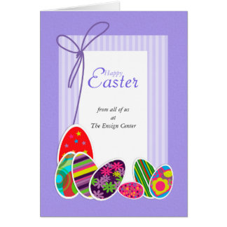 Happy Easter Card: From All of Us Greeting Card