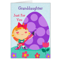 Happy Easter Card to My Granddaughter
