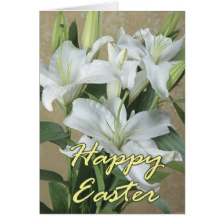 Happy Easter card with Lilies
