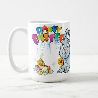 Happy Easter Cartoon Basic White Mug