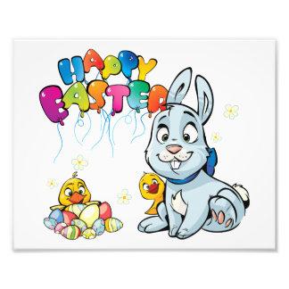 Happy Easter Cartoon Photo Print