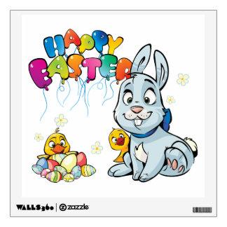 Happy Easter Cartoon Wall Decal