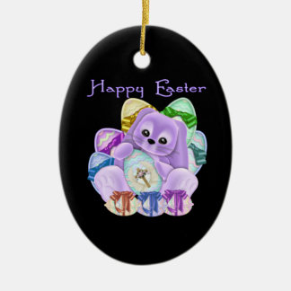 Happy Easter Ceramic Ornament