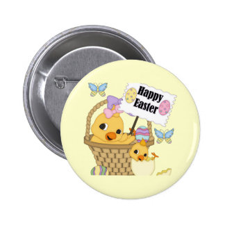 Happy Easter Chick 2 Inch Round Button