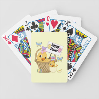 Happy Easter Chick Bicycle Poker Cards