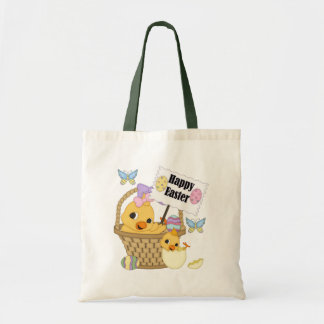 Happy Easter Chick Budget Tote Bag