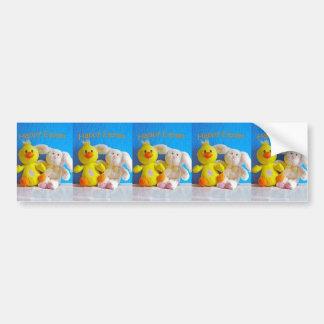 Happy Easter Chick + Bunny Bumper Sticker