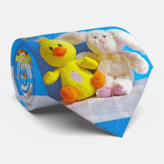 Happy Easter Chick + Bunny Neck Tie