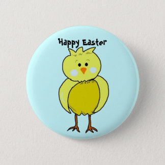Happy Easter Chick Button