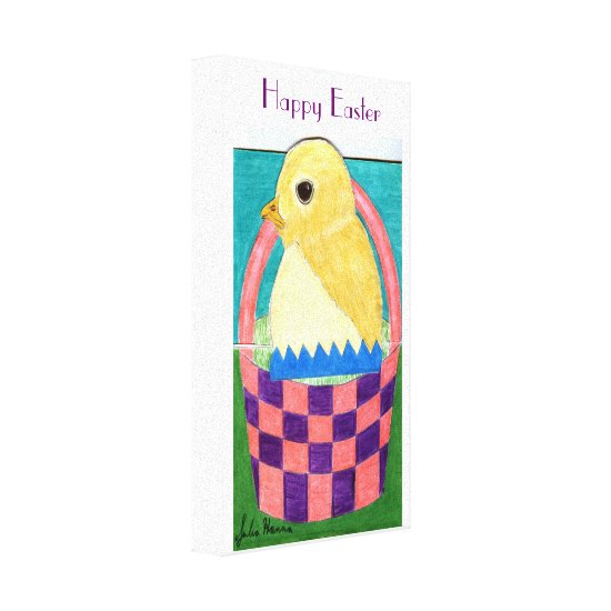 Happy Easter Chick by Julia Hanna Gallery Wrap Canvas