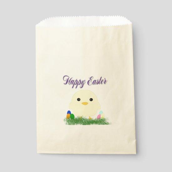 Happy Easter Chick Favor Bag
