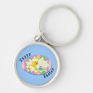 Happy Easter Chick Keychain