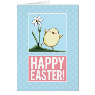 Happy Easter Chick - Personalizable Easter Cards