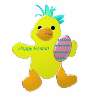 """""""Happy Easter"""" Chick Photo Sculpture"""