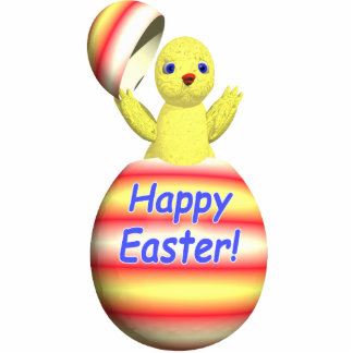 Happy Easter Chick Popup Statuette