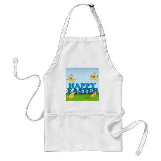 Happy Easter Chicks Adult Apron