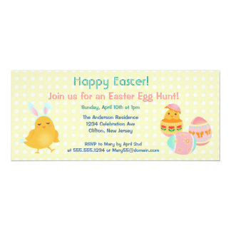 Happy Easter Chicks Easter Egg Hunt Invitation