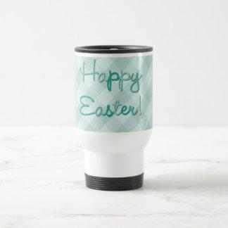 Happy Easter Chicks Green Travel Mug