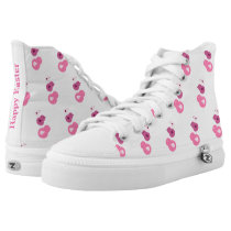 Happy Easter Chicks High-Top Sneakers