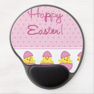 Happy Easter Chicks Pink Gel Mouse Mat