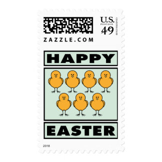 Happy Easter Chicks Postage Stamps