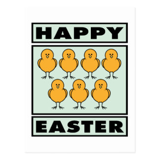 Happy Easter Chicks Postcard