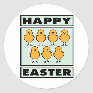 Happy Easter Chicks Stickers