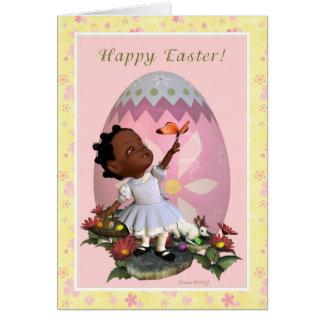 Happy Easter -  Child in Garden Card