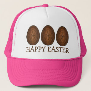 ... new lower prices 0d7ec 74609 Happy Easter Chocolate Egg Hunt Eggs Candy  Hat ... 707394cbff54