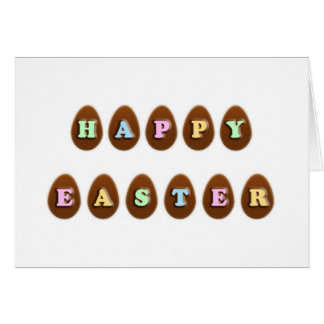 Happy Easter Chocolate Eggs Card