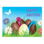 Happy Easter Chocolate Eggs Postcard