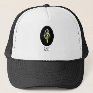 Happy Easter Christ Image Canterbury Black Trucker Hat