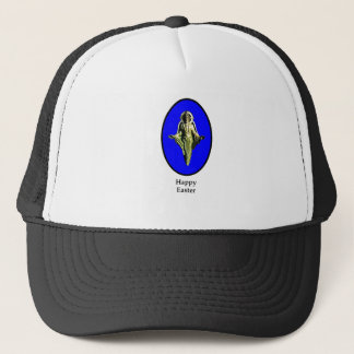 Happy Easter Christ Image Canterbury Blue Trucker Hat