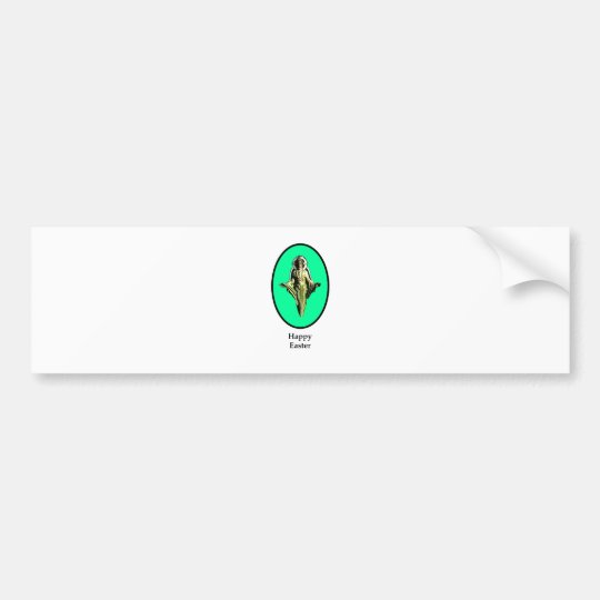 Happy Easter Christ Image Canterbury Cyan The MUSE Bumper Sticker