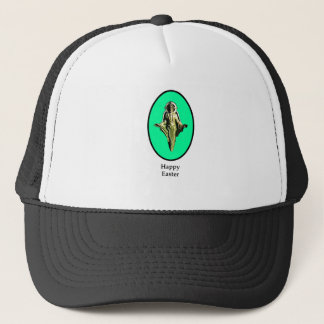 Happy Easter Christ Image Canterbury Cyan The MUSE Trucker Hat