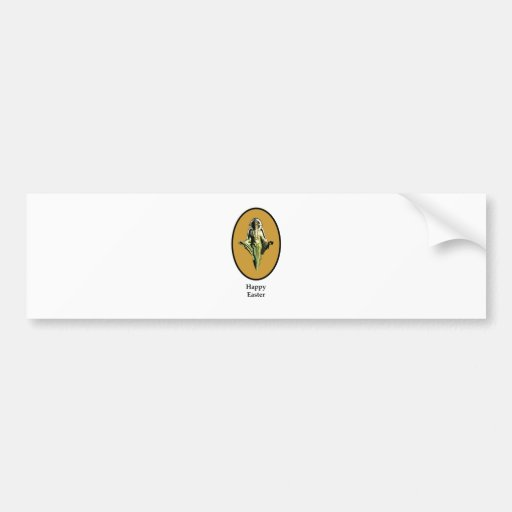 Happy Easter Christ Image Canterbury Gold The MUSE Car Bumper Sticker