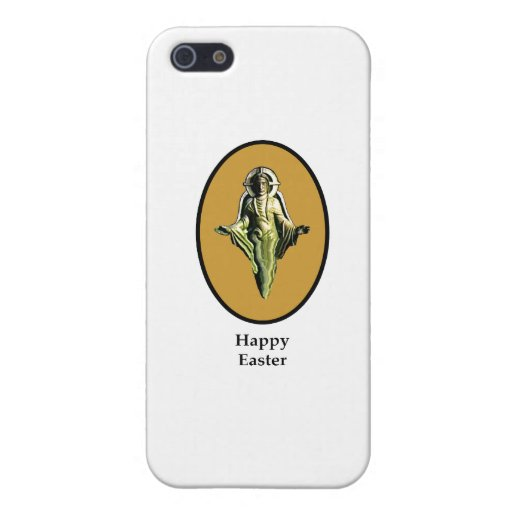 Happy Easter Christ Image Canterbury Gold The MUSE iPhone 5 Cover
