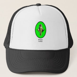 Happy Easter Christ Image Canterbury Green The MUS Trucker Hat