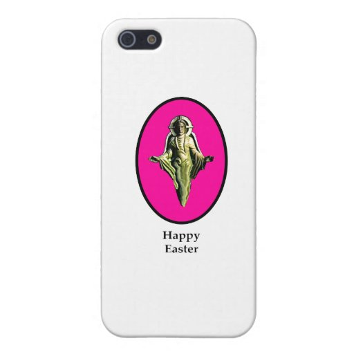 Happy Easter Christ Image Canterbury Magenta iPhone 5/5S Case