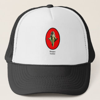 Happy Easter Christ Image Canterbury Red The MUSE Trucker Hat