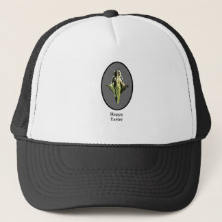 Happy Easter Christ Image Canterbury Silver Trucker Hat