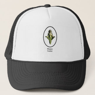 Happy Easter Christ Image Canterbury White Trucker Hat