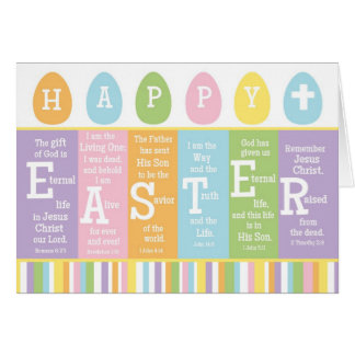 Happy Easter Christian Scripture Verse Card-BLANK