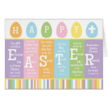 Happy Easter Christian Scripture Verse Card-BLANK Greeting Card