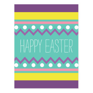Happy Easter - Colorful Egg Design Postcard